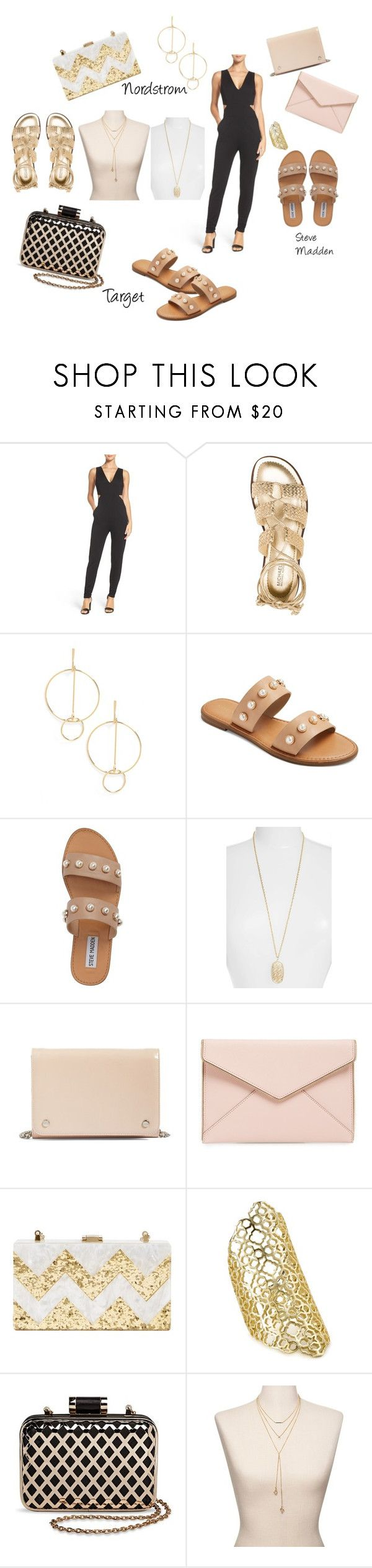 """""""Summer night out"""" by jennhattan on Polyvore featuring Fraiche By J, Cara, Steve Madden, Kendra Scott, Nordstrom, Rebecca Minkoff and Glint"""