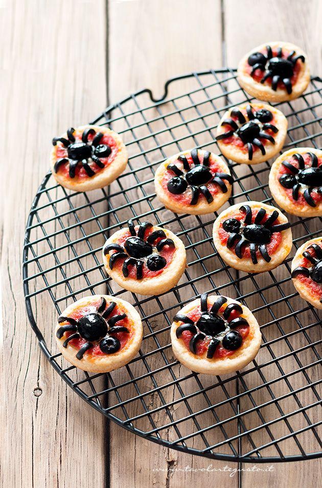 Pizzette Ragno per Halloween