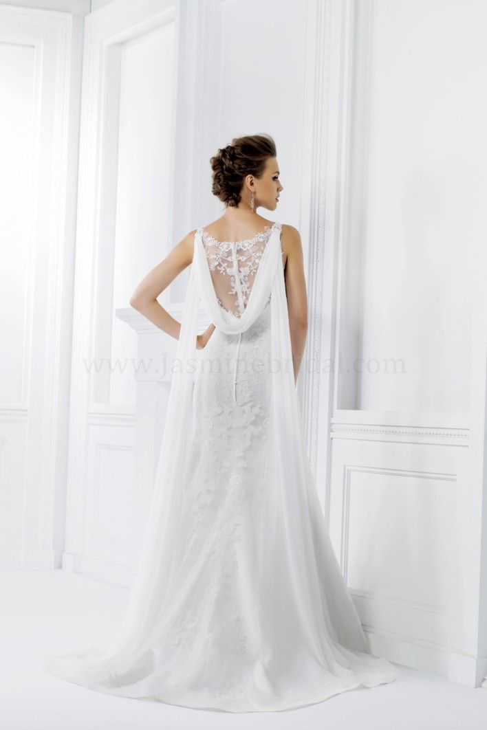 F161007 Jasmine Bridal :: 1920's Art Deco Great Gatsby wedding dress