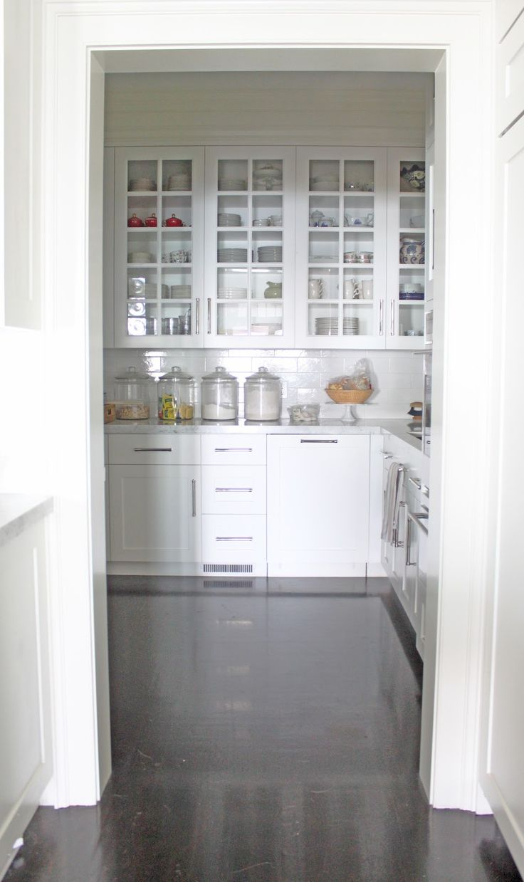 Molly Frey Design: Design Details: Walk-in Pantry -- love that it has counter space but no sure if it necessary.