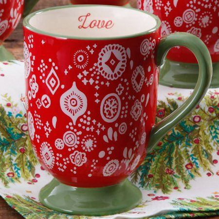 $4.88 The Pioneer Woman Bandana Red Latte Mug