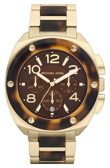 Michael Kors 'Tribeca' Chronograph Bracelet Watch   Nordstrom. I am so totally in love with this.