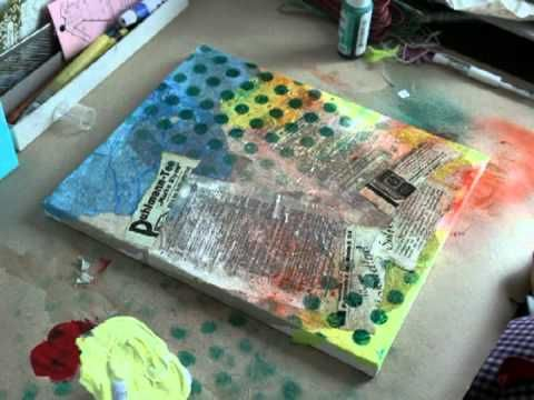 * Mixed Media Canvas - She Art - Pink Paislee *
