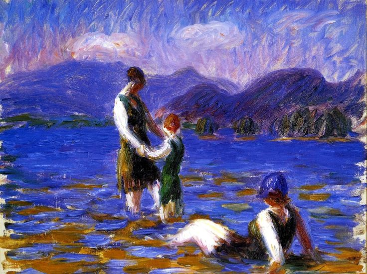 Bofransson william glackens c1920 lake bathers oil on for Design your own bathers