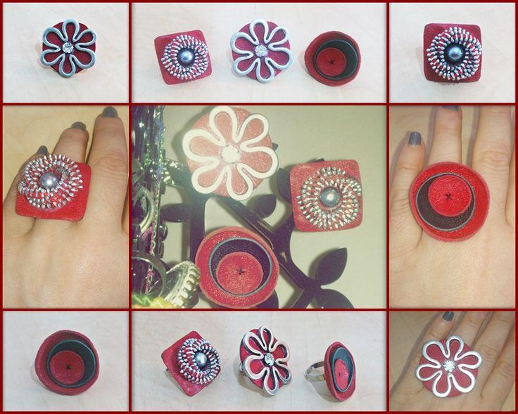 ring, zipper, leather, δαχτυλίδι, δέρμα, φερμουάρ, https://www.facebook.com/pages/MarT/129277373855446