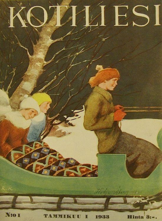 Kotiliesi 1933-01 (kansi Martta Wendelin