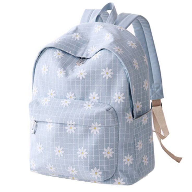 New 2016 Fashion Floral Printing Bagpack Women's Canvas Travel Backpacks for Teenage Girls Rucksack Kids Backpack Free Shipping