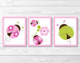 Cupcake Baby Cakes Nursery Wall Art por LittlePrintsParties en Etsy