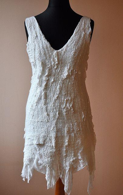 nuno felted dress