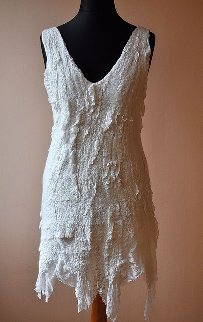 nuno felted dress