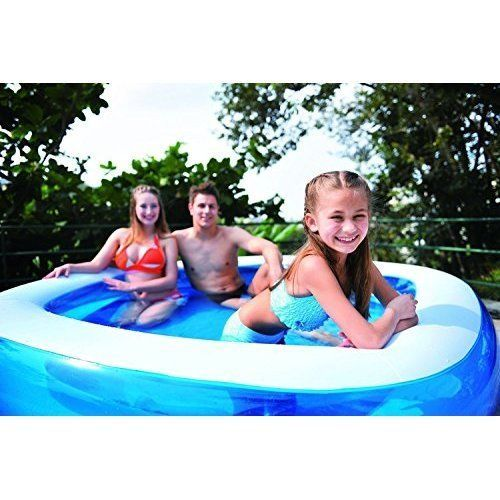 Above Ground Swimming Pool Inflatable Outdoor Fun Family Pentagon Blue White #InflatablePool