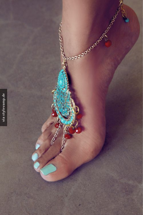 Der schönste Fußschmuck