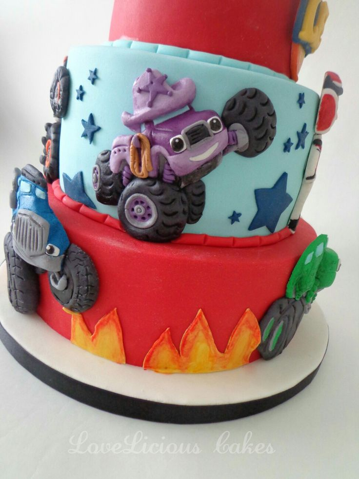 Blaze And The Monster Machine Cake Www Loveliciouscakes Nl