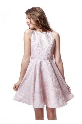 02d99efec5 Stunning Brocade sleeveless skater dress with racer back. | Girls ...