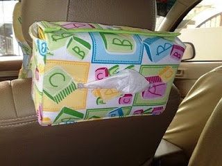 Tissue Box Holder for car (with Tutorial)