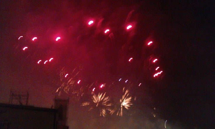 Fuochi d'artificio in Prato della Valle a ferragosto 2014 (8). #VivereArte #MichelaBusana