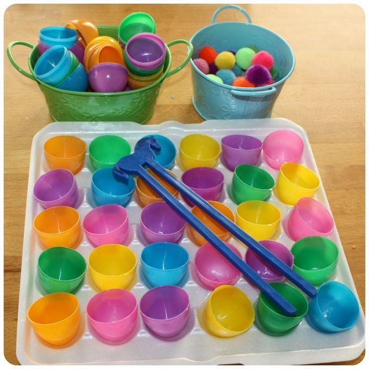 plastic egg fine motor activities - Google Search