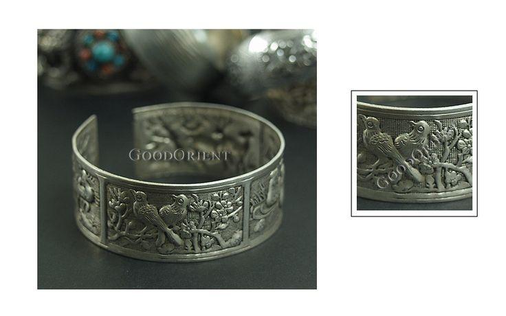 Miao Silver Bracelet---Peacock