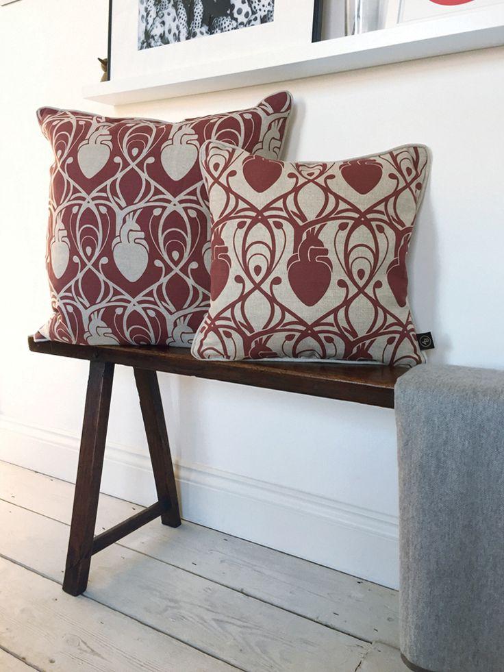 Image of Cardiac Linen Cushions