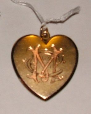 A gold pendant presented in  1905 to Gertrude Eena Morrell by P.H.C., Walkaway; prior to her marriage to Francis Edward Mortimer Clinch at the Methodist Chapel, Greenough. The pendant originally was given with a long gold chain that was later divided between her four daughters, Greta, Dora, Hazel and Mary.
