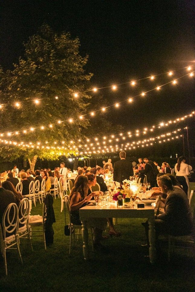 14 Backyard Wedding Decor Hacks For The Most Insta Worthy Nuptials Ever Outdoor Party Lightingstring