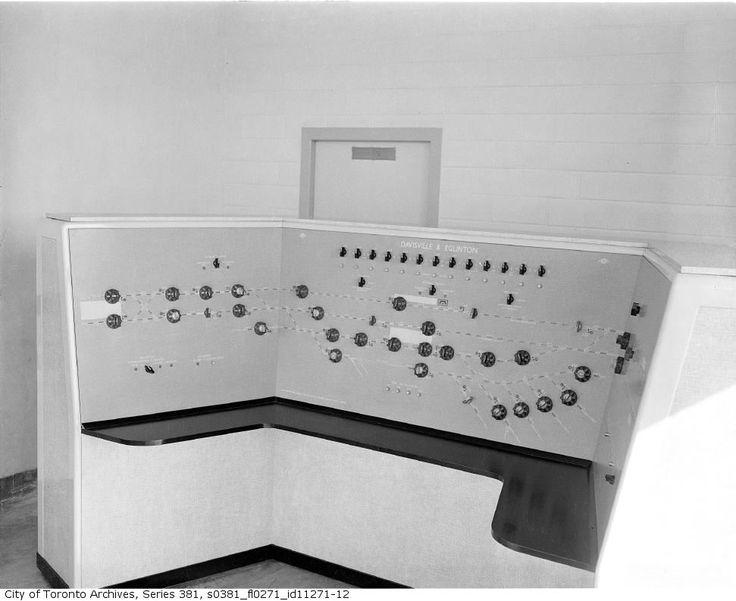 Siemens General Electric control panel Davisville tower c1953. Toronto subway