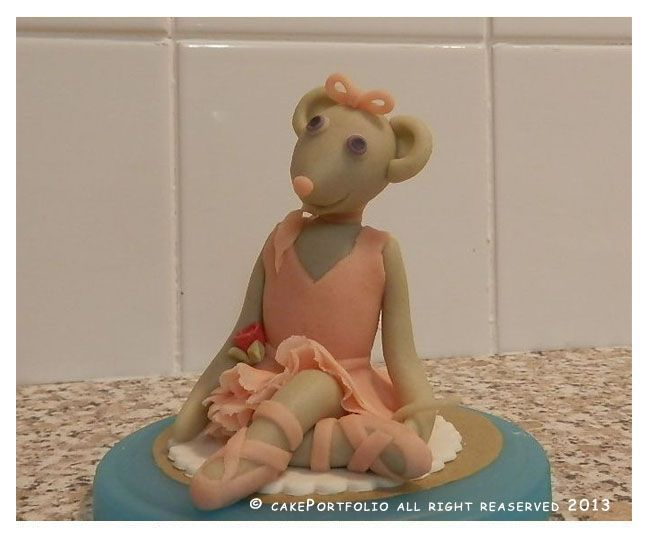 "#AngelinaBallerina #Marzipan #CakeTopper Made to sit on top of 7"" Cake"