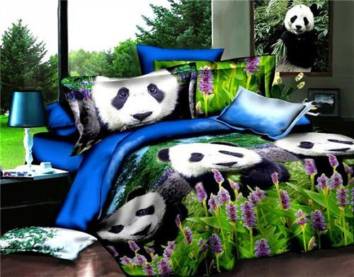 queen size bedding 3d painting and cute panda on pinterest. Black Bedroom Furniture Sets. Home Design Ideas