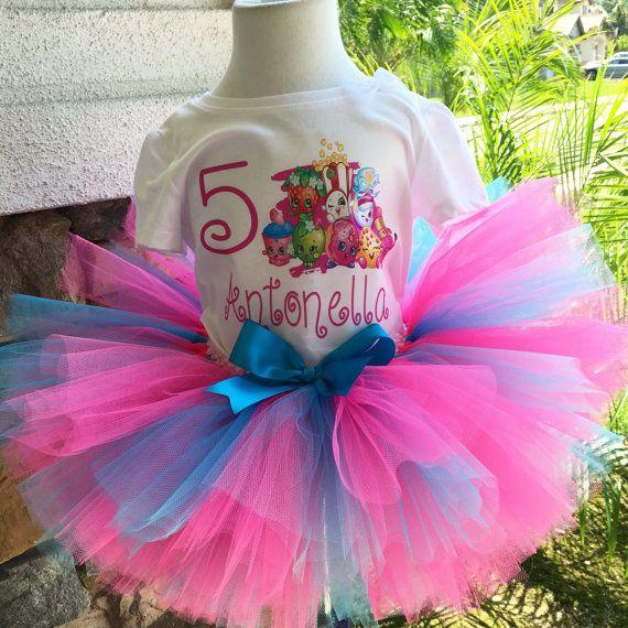 Shopkins Tutu Tutu Shopkins cumpleaños tutú azul y rosa