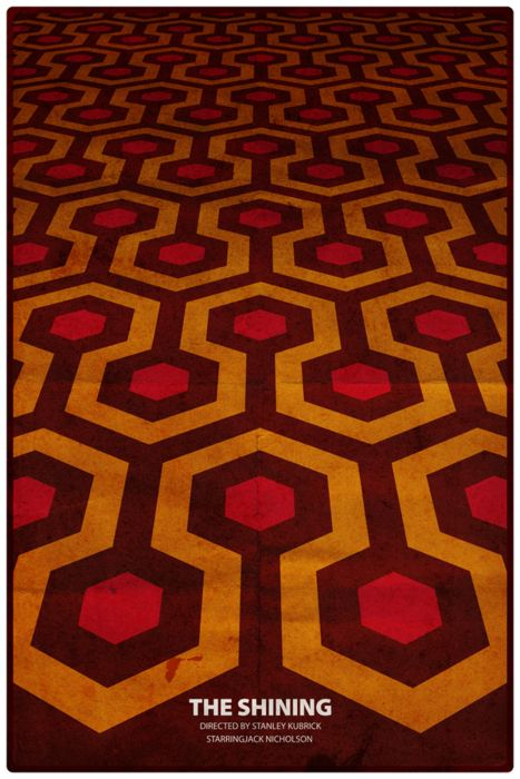 "MP784. ""The Shining"" Alternative Movie Poster by Jean-Joseph Renucci (Stanley Kubrick 1980) / #Movieposter"