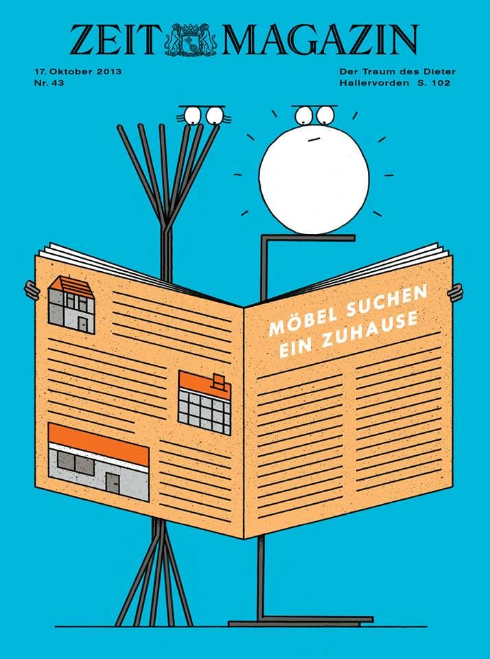 Nr. 43/13: Möbel suchen ein Zuhause | ZEITmagazin Cover | Pinterest