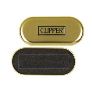 Original CLIPPER® Metallbox mit Schaumstoff-Einlage. Platz für 1 Feuerzeug.