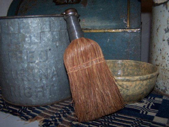 Primitive Farmhouse Whisk Broom by QuirkyAndQuaint on Etsy