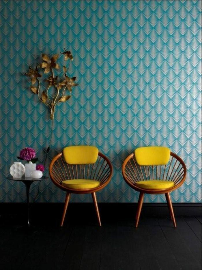 17 meilleures id es propos de murs bleu fonc sur pinterest murs de la ma - Papier peint bleu fonce ...