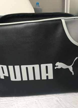 Kup mój przedmiot na #vintedpl http://www.vinted.pl/damskie-torby-i-plecaki/torby-na-ramie/20418307-czarno-szara-skorzana-torba-puma-mieszczaca-a4