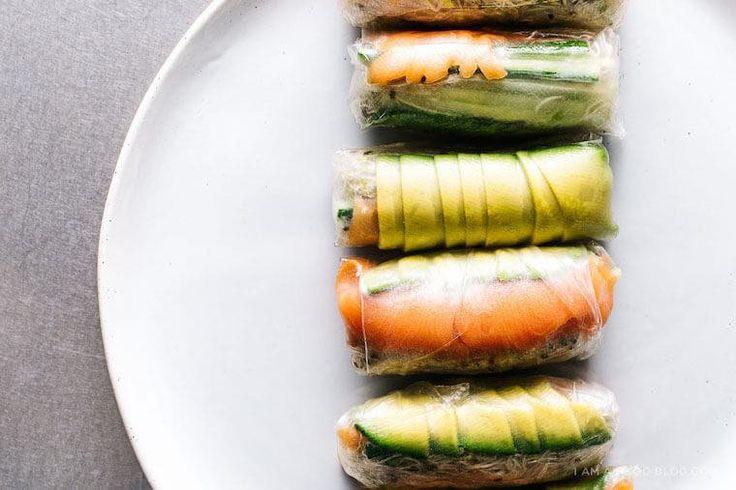 summer rolls, healthy dish