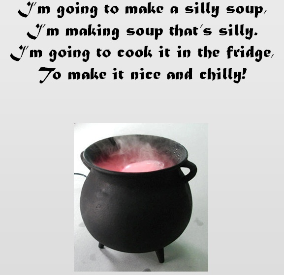 Introduce rhyming to your class with this rhyme based upon 'Silly Soup' from Letters and Sounds. Children sing along to the rhyme and then select the appropriate rhyming picture. If they select correctly they will move on to the next step but if it's wrong there is an explosion!