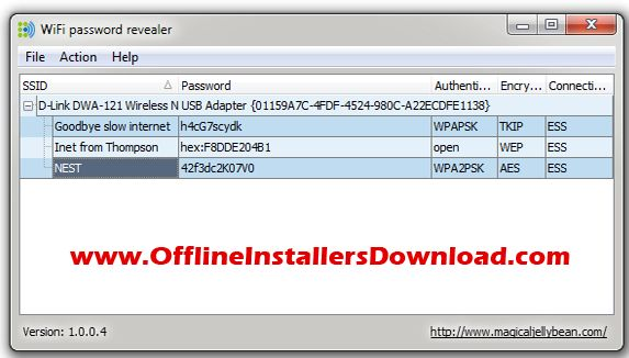 WiFi password revealer - Find the Wifi network Password