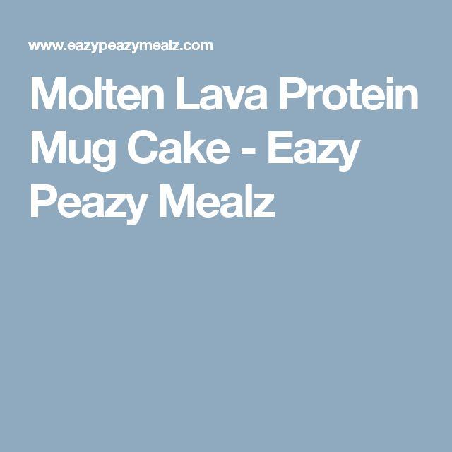 Molten Lava Protein Mug Cake - Eazy Peazy Mealz