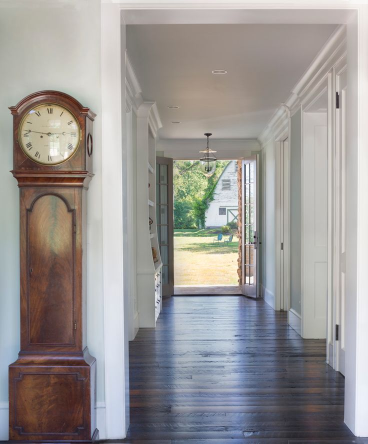 Large Outdoor Clock and Thermometer Farmhouse Entry with Front Door