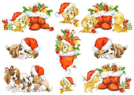 Paper Decoupage Paper A4 NY-158 Christmas cards Crafts