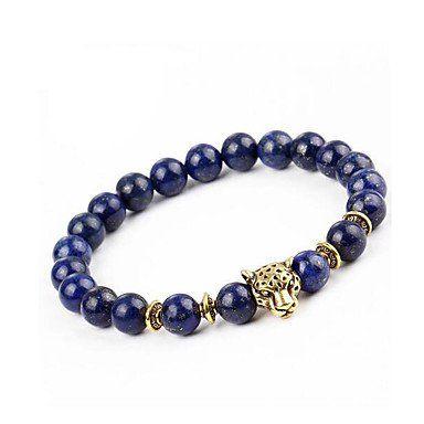 Strand armbanden voor dames en heren blauwe agaat stenen dierenvorm
