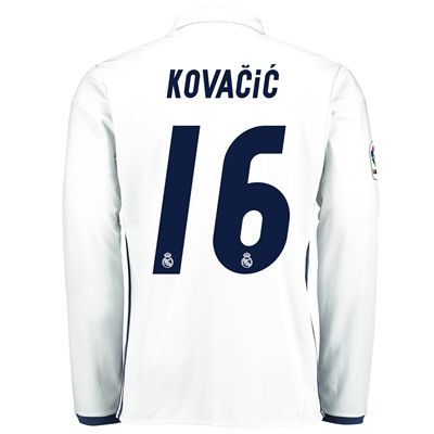Image of Real Madrid Home Jersey 2016/17 - Long sleeve - with Kovacic 16 printi