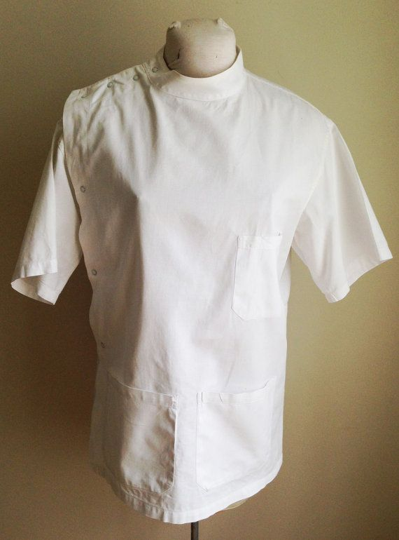 Vintage 1940s-50s Doctor Dentist Uniform Smock Size Men's ...