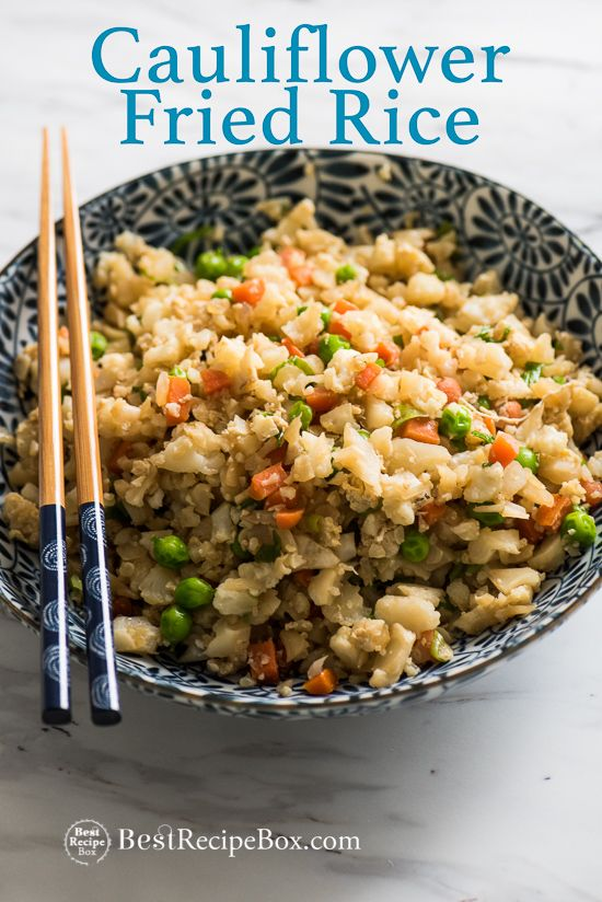 Cauliflower Fried Rice - Healthy and Amazing!