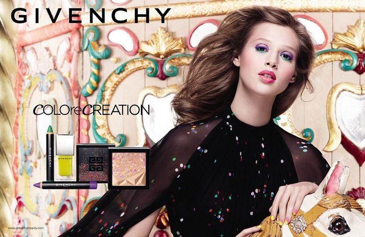 Anaïs pour la collection beauté Colorecreation SS15 de #Givenchy