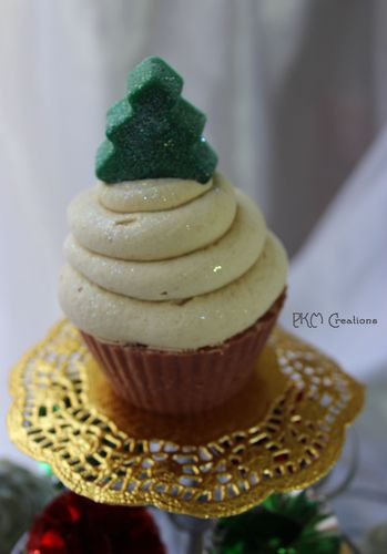Artisan Soap - Silver Spruce Cupcake (Tree Topper)