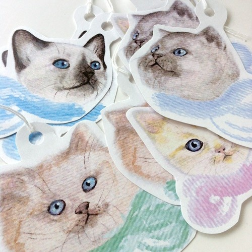 Cute Cats Gift Tags http://www.shanalogic.com/new-arrivals/cute-cats-gift-tag-set.html#
