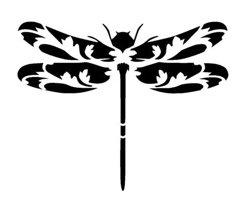 vintage dragonfly stencil 2