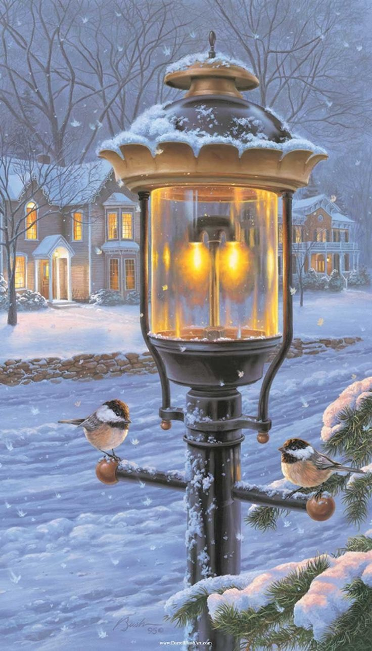 Darrell Bush Paintings.   Winter light.
